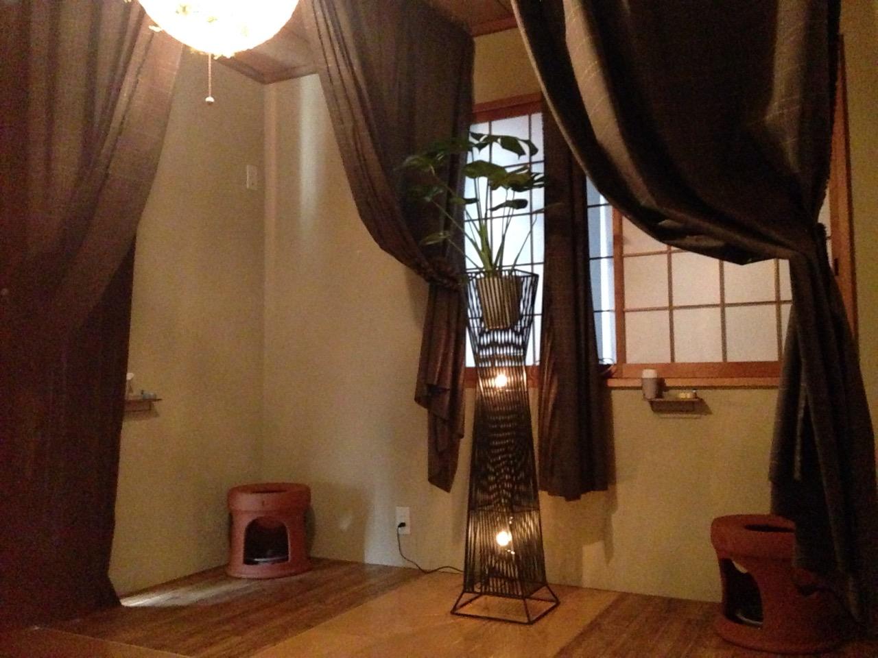アジアンテイストな よもぎ蒸しのお部屋のイメージ